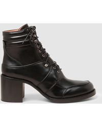 Tabitha Simmons - Leo Leather Lace-up Ankle Boots - Lyst