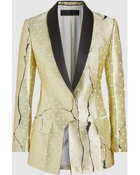 Haider Ackermann - Hourglass Silk-blend Asymmetrical Jacket - Lyst