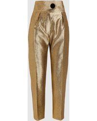 Petar Petrov - High Waist Metallic Lurex Tailored Trousers - Lyst