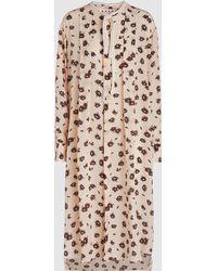 Marni - Floral-print Silk-georgette Midi Dress - Lyst