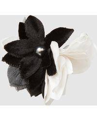 Lanvin - Embellished Floral Appliquéd Silk Ring - Lyst