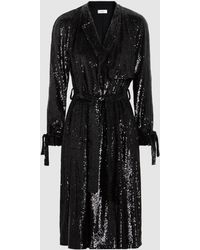 A.L.C. - Holloway Sequinned Wrap Coat - Lyst