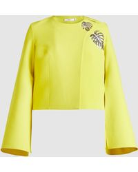 Safiyaa - Philo Embroidered Crepe Jacket - Lyst