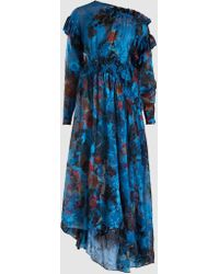 Preen By Thornton Bregazzi - Stephanie Floral Devoré Silk-blend Dress - Lyst