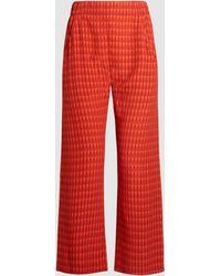 Zero + Maria Cornejo - Eko Woven Plaid-effect Cropped Trousers - Lyst