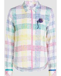 Mira Mikati Check Long Sleeve Cotton Shirt