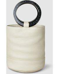 Simon Miller - Bonsai 20 Textured-leather Bucket Bag - Lyst