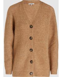 Ganni - Evangelista Ribbed-knit Cardigan - Lyst