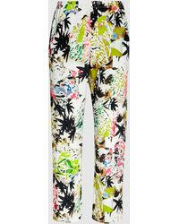 Zero + Maria Cornejo - Tabi Printed Silk-crepe Trousers - Lyst