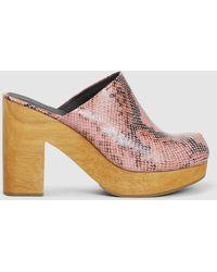 Rachel Comey - Dakota Snake Print Leather Clogs - Lyst