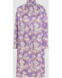 Rachel Comey - Floral-print Silk-jacquard Midi Dress - Lyst