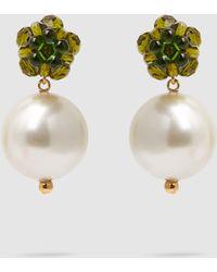 Simone Rocha - Faux Pearl And Crystal Earrings - Lyst