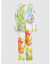 All Things Mochi - Anushka Long Sleeve Floral Jumpsuit - Lyst