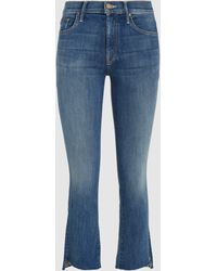 Mother Denim - Insider Cropped Step Fray Not Rough Enough Jeans - Lyst