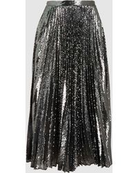 Marco De Vincenzo - Sequinned Pleated Midi Skirt - Lyst
