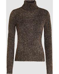 OSMAN - Pippa Roll Neck Lurex Sweater - Lyst