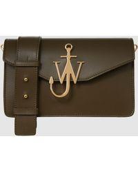 JW Anderson - Logo Leather Shoulder Bag - Lyst