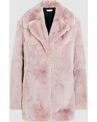 A.L.C. - Stone Fur Coat - Lyst
