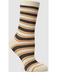 Ganni - Paltrow Glitter Striped Stretch-knit Socks - Lyst