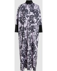 LAYEUR - Printed Oversized Maxi Dress - Lyst