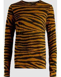 Proenza Schouler - Printed Long Sleeve Jersey Tissue Top - Lyst