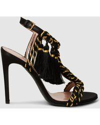 Alberta Ferretti - Braided Strap Sandals - Lyst