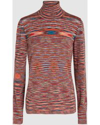 Missoni - Turtleneck Striped-wool Sweater - Lyst