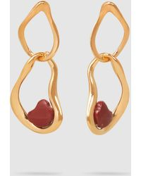 Ileana Makri - Red Jasper Gold-tone Earring - Lyst