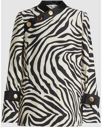 LAYEUR - Anna Mary Zebra Print Crepe Top - Lyst