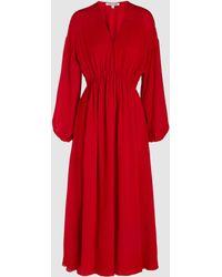 Elizabeth and James - Norma Silk Long Sleeved V-neck Dress - Lyst
