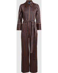 M.i.h Jeans - Dexy Belted Striped Jacquard Jumpsuit - Lyst