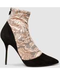 Pierre Hardy - Lace And Suede Ankle Boots - Lyst