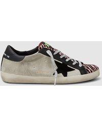 Golden Goose Deluxe Brand - Zebra Pony Detail Superstar Trainers - Lyst