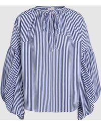 Stella Jean - Oversized Striped Cotton Top - Lyst