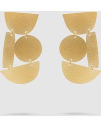 Annie Costello Brown - Masha Gold-tone Earrings - Lyst