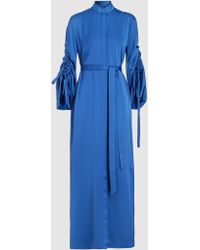 OSMAN - Shirt Dress Kaftan With Gathered Sleeve - Lyst