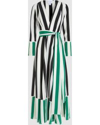 We Are Leone - Striped Silk Robe - Lyst