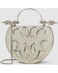 OKHTEIN - Silver-plated Brass Minaudière Small Oval Bag - Lyst