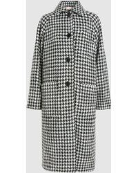 Marni - Houndstooth Wool Coat - Lyst