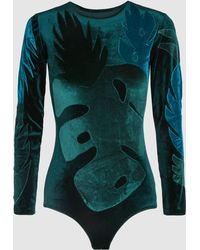 Alexia Hentsch - Leaves Long Sleeve Bodysuit - Lyst
