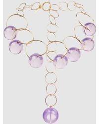 Marni - Gold-tone Plexiglas Choker Necklace - Lyst