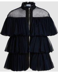 OSMAN - Mhalin Ruffled Tulle Jacket - Lyst
