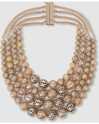 Rosantica - Innocenza Beaded Onyx Gold-tone Necklace - Lyst