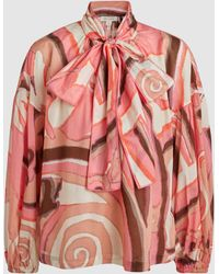 Marc Jacobs - Printed Silk Blouse - Lyst