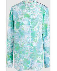 Ports 1961 | Floral Print Silk Long Sleeve Shirt | Lyst