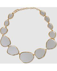 Aurelie Bidermann - Ciottolo Mirror-effect 18k Gold-plated Necklace - Lyst