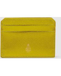Mark Cross - Saffiano Leather Card Holder - Lyst