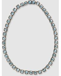 Larkspur & Hawk - Bella Small Rivière White Quartz Black Rhodium Necklace - Lyst