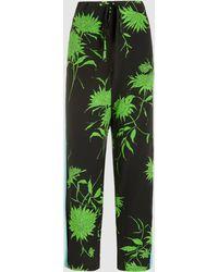 Haider Ackermann - Printed Silk-crepe Trousers - Lyst