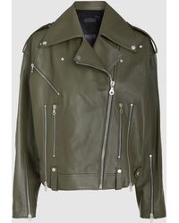 ROKH - Leather Biker Jacket - Lyst